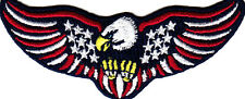 USA AMERICAN EAGLE w/STARS & STRIPES, IRON ON PATCH,PATRIOTIC, BIKER, PEACE,FLAG