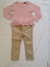 BNWT 100% Auth 7 For All Mankind Baby Girls 2 Piece Outfit, Top & Jeans. 24 M