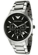 Men's Emporio Armani AR2434 Luxury Watch Stainless Steel Quartz Free Shipping