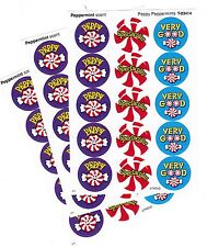 3 sheets Peppermint Scented Scratch n Sniff Stickers! 45 Stickers! TREND