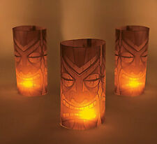 6 Tiki Luminary Wraps Luau BIRTHDAY Party Beach Pool Tropical Tribal Decor