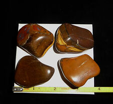 DINO: 4 Amazing XL TIGERS EYE Polished Stones from Africa - 182 grams