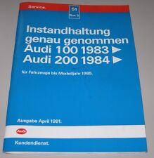 Werkstatthandbuch Audi 100 ab 1983 / 200 Typ 44 + Quattro C3 bis Modelljahr 1985