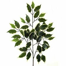 50cm Artificial Variegated Ficus Branch - Decorative Plastic Plant/Foliage