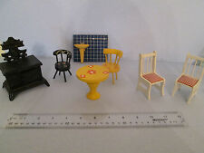 VINTAGE 60's70's doll house furniture incl.Lundby bath sink cast iron stove MORE