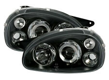 black clear finish ANGEL EYES Headlights for OPEL CORSA B 93-00