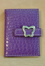 Russ - Photo/Credit Card Holder - Purple with Butterfly Clasp