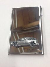 Saab 93 Estate 1995 ref237 Pewter Effect on Stainless Steel Business Card Holder