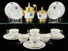 EXCLUSIVE Russian Imperial Lomonosov Porcelain Tea set Cottage Gold Very Rare