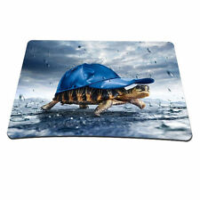 Tortoise With Blue Hat Anti-Slip Mice Pad Mousepad For Optical Laser Mouse