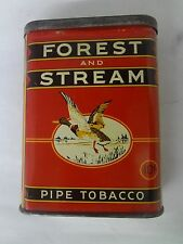 VINTAGE ADVERTISING FOREST & STREAM MALLARD TOBACCO VERTICAL  POCKET TIN 3-