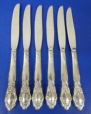 6 Oneida BALLAD COUNTRY LANE Silverplate Flatware DINNER KNIVES Knife
