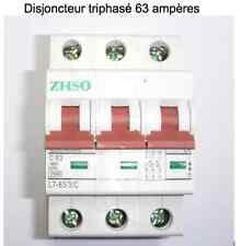Disjoncteur triphasé modulaire 63 ampères neuf garantie 3 ans