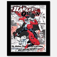 Harley Quinn - 3D Wall Art Poster - Matted - 11 x 14