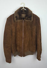 VTG RETRO BROWN DISTRESSED URBAN RENEWAL GENUINE LEATHER MOD SCOOTER JACKET UK S