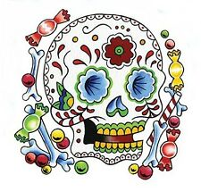 SWEET CANDY MEXICAN SUGAR SKULL STICKER/VINYL DECAL