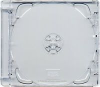 1 X CD Super Jewel Box 10.4mm Standard Cases 1 or 2 Disc with Clear Tray 1pk