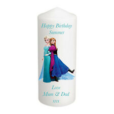 Personalised Frozen Elsa Anna Candle Christmas Birthday Stocking Gift Keepsake M