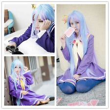 Hot New No Game No Life Shiro Anime Women Cosplay Costume Heat Full Hair Wig