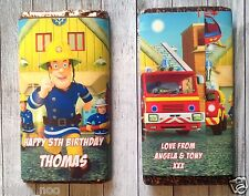 PERSONALISED Fireman Sam CHOCOLATE BAR WRAPPER fits Galaxy 114g Birthday Easter