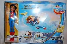 Damage Box Mattel Marvel DC Wonder Woman Doll Invisible Jet Set Super Hero Girls