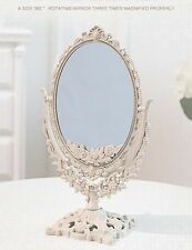 Double Sided Ornate Mirror Freestanding Dressing Table Mirror Vanity Mirror