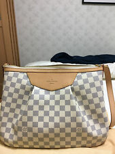 Louis Vuitton Bag LV Damier Azure Siracusa MM Shoulder Bag N41112