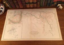 Original Antique Civil War Military Map FAYETTEVILLE Virginia VA West Virginia