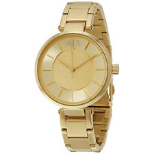 Armani Exchange Women's AX5316 Gold Dial Gold-Tone Steel Bracelet Watch