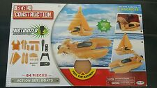 NEW Real Construction Action Set: Boats - 64 Pieces