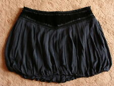 BNWT BEBE DESIGNER BLACK PLEATED BUBBLE SKIRT SIZE M - L UK 14 - 16 RRP $89