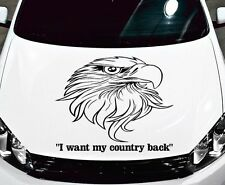 TRIBAL DECAL W/ EAGLE HEAD CAR, TRUCK, WALL, HOOD, BACK WINDOW, VINYL GRAPHICS