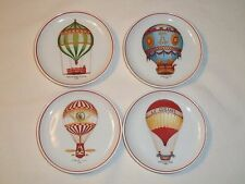 GOLDEN CROWN E&R WESTERN GERMANY NAMED HOT AIR BALLOON BUTTER PAT SAUCE DISHES