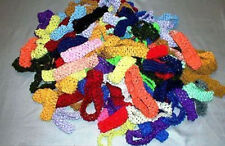 1' INCH CROCHET HEADBAND ASSORTED, SOLD IN SETS OF 12 *