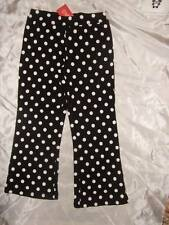 NWT GYMBOREE ~ HOLIDAY PANDA black white polka dot knit pants ~ girls 5 5T