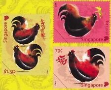 Singapore stamps - 2017 Zodiac Rooster 3v Set MNH birds