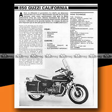 ★ MOTO GUZZI 850 T3 CALIFORNIA ★ 1979 Essai Moto / Original Road Test #a322