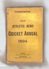 #D33. 1894  ATHLETIC NEWS CRICKET ANNUAL, RARE