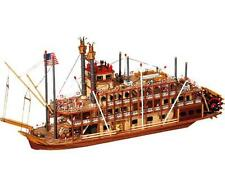 """Beautiful, brand new wooden model ship kit by OcCre: the """"Mississippi"""""""