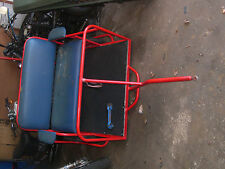 bicycle trailer pedicab thick wheels brakes 60176 used needs recovering pickup