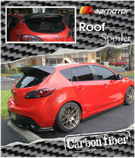 MS Style Carbon Fiber Rear Roof Spoiler Wing for 10-13 Mazda 3 Mazda3 Hatch 5dr