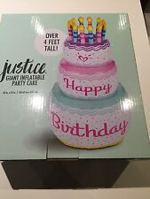 NEW! JUSTICE GIRLS GIANT INFLATABLE BIRTHDAY CAKE PARTY
