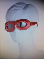 New Walter Van Beirendonck /Linda Farrow Bright Diamond Mask Sunglasses,Ruby