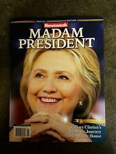 Hillary Clinton Madam President  Misprint NEWSWEEK Commemorative Misprint Error