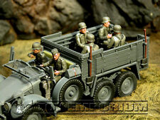 Custom Built  1:35  WWII  German  Half  Track  Riders  SIX  Figure  Soldier  Set
