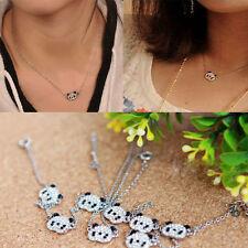 Femmes Glitter strass Collier Panda chaîne pour la Saint-Valentin cadeau