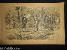 Antiquarian Sporting Print of A Shooting Party (Fore's Notes/Gun Sport c1886)