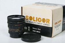 Soligor 28mm  f2.8 Preset. M42 Screw Mount Lens with box