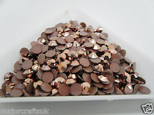 1440pcs 2mm ss6 Metallic Bronze Brown Flat Back Resin Rhinestones DIY Gems C58
