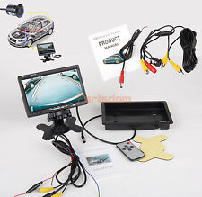 7 in TFT LCD Car Rear View Backup Parking Monitor + CMOS Waterproof Camera New
